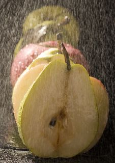 Free Pears In Rain Stock Photography - 2108502