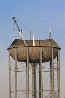 Free Water Tank Construction 5 Stock Images - 2109074