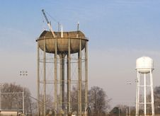 Free Water Tank Construction 6 Royalty Free Stock Photo - 2109075