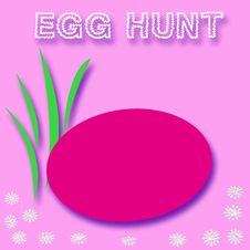 Free Easter Egg Hunt Sign Stock Photos - 2109783