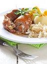 Free Fresh Roulades With Sauerkraut Royalty Free Stock Image - 21000666