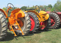 Free Three Farm Tractors From A Rear View Stock Images - 21004354