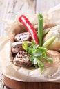 Free Roast Pork Tenderloin With Bread Roll Stock Photo - 21004410