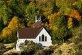 Free Mountain Church Autumn Royalty Free Stock Photography - 21008707