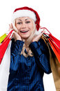 Free Christmas Woman With Shopping Bags Stock Photos - 21009143