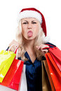 Free Christmas Woman With Shopping Bags Stock Images - 21009194