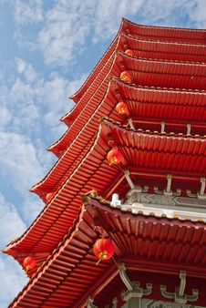 Free Oriental Chinese Pagoda Tower Royalty Free Stock Photos - 21000598
