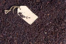 Free Black Tea Leaves And Paper Label Royalty Free Stock Image - 21000866