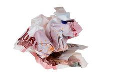 Free Crumpled Money Royalty Free Stock Photography - 21001037
