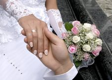 Free A Man Holds The Hand Of Woman Stock Photos - 21001413