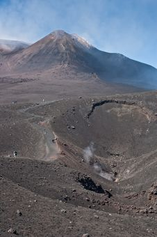 Free Mount Etna Sicily On A Clear Summer Day Royalty Free Stock Images - 21001539