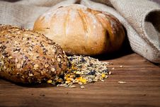 Free Composition Of Fresh Bread Royalty Free Stock Images - 21002149
