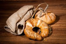 Free Composition Of Fresh Bread Royalty Free Stock Image - 21002276