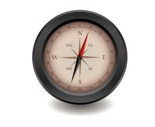 Free Black Realistic Compass Royalty Free Stock Photography - 21002397