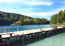 Free Wooden Pier In National Park,Plitvice Royalty Free Stock Image - 21002416