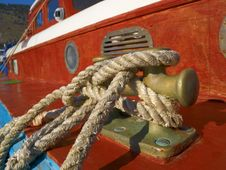 Free Red Boat On A Moorage Royalty Free Stock Photography - 21002517