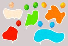 Free Hoolyday Speech Bubbles Stock Photography - 21003282