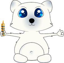 Free Isolated Christmas Polar Bear Stock Photo - 21003290