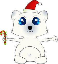 Free Isolated Christmas Polar Bear Stock Photo - 21003300