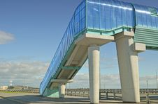 Elevated Pedestrian Crossing Royalty Free Stock Photo