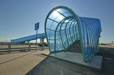 Elevated Pedestrian Crossing Stock Photography