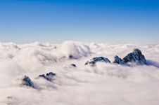 Free Sea Of Clouds And Islands Of Rock Stock Photo - 21003780