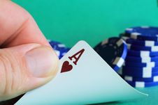 Free Ace Of Hearts Royalty Free Stock Image - 21004556