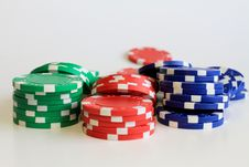 Free Poker Chips Stock Images - 21004594