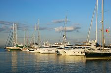 Sea Yachts Royalty Free Stock Images