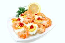Free Dish With Shrimp Royalty Free Stock Photos - 21005158