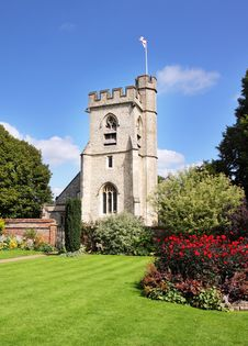Free An English Village Church And Tower Stock Image - 21005391