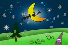 Free Rural View And Santa Claus S Animal Stock Photos - 21005403