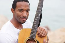Free Handsome Man With A Guitar Stock Photo - 21005610