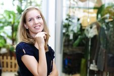 Portrait Of A Beautiful Woman In The Store Stock Image