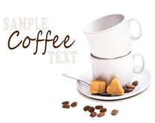 Free Coffee With Sample Text Stock Images - 21006064