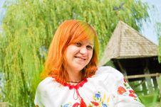 Portrait Of A Beautiful Ukrainian Girl Stock Images