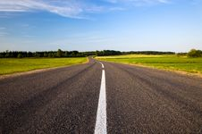 The Asphalted Road Royalty Free Stock Photography