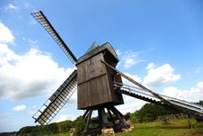 Free Windmill, Old And Wooden For Milling Grain Royalty Free Stock Image - 21007506