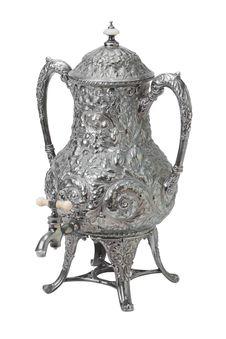 Free Tea Samovar Isolated On White Stock Photos - 21007683