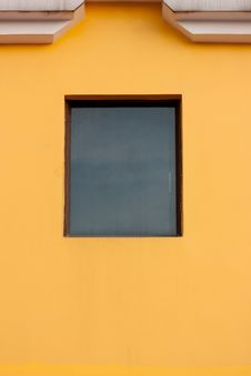 Orange Wall And Window Royalty Free Stock Photography