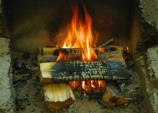 Free Burning Logs In A Campfire. Stock Image - 21008271
