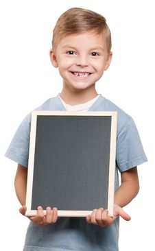 Free Boy With Blackboard Stock Photography - 21008502