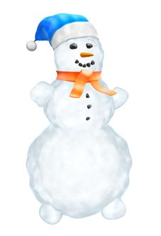 Free Snowman Royalty Free Stock Image - 21008626