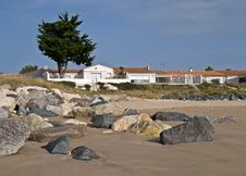 Free Houses On The Beach. Royalty Free Stock Photos - 21008788