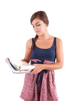 Free Young Woman Studying Stock Images - 21009434