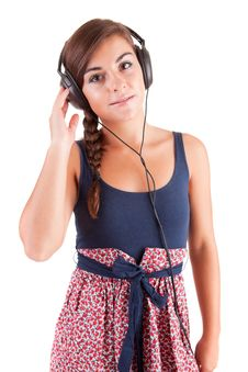 Free Young Woman Listening To Music Stock Photo - 21009440