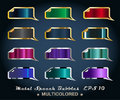 Free Set Of Metallic Stickers Stock Photo - 21013740
