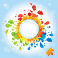 Free Autumn Background With Leaves  / Eps Royalty Free Stock Photo - 21017825