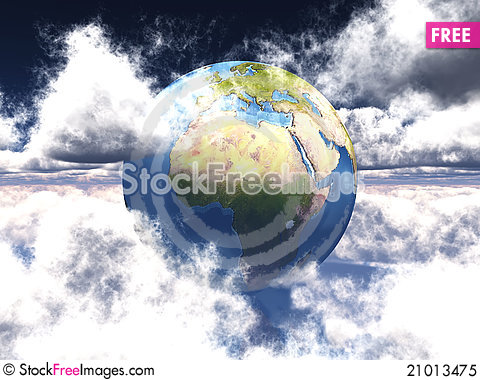 Free Earth And Clouds Royalty Free Stock Photo - 21013475