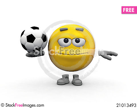 Free Smiley And Soccer Ball Stock Photos - 21013493